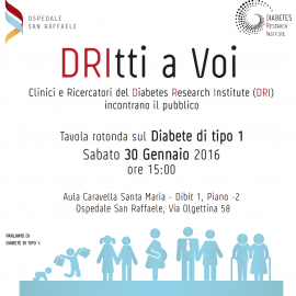 DRItti a Voi – A panel discussion on type 1 diabetes